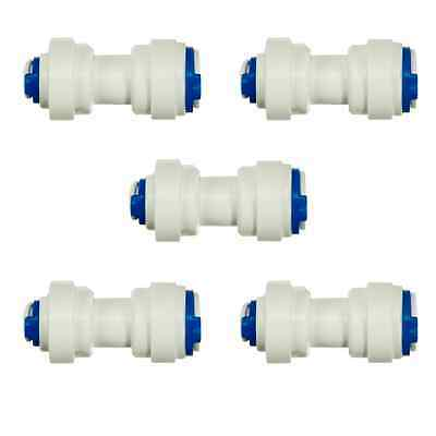"""1/4"""" x 3/8"""" Push Fit Adaptor Reducer For Water Pipe Tubing - PACK OF 5"""