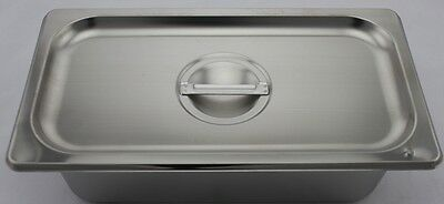 Stainless Steel Bain Marie Trays & Lid, 1/3 Size 100mm