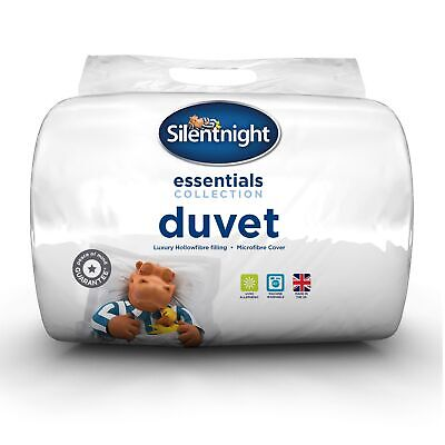 Silentnight Hollowfibre Duvet / Quilt - 4.5 Tog - Single Double or King Size