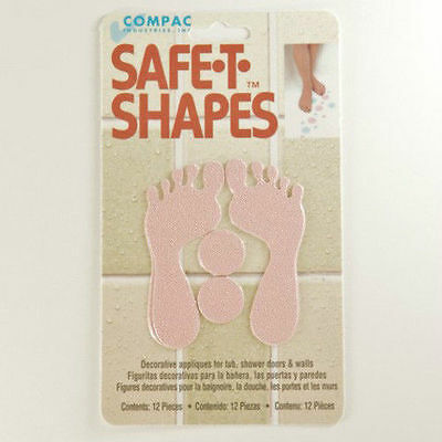 Safe-T-Shapes Pink Feet Non-Slip Safety Applique Stickers - Bath, Tub & Shower