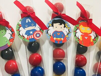 Birthday Party Favor Super Heroes Gumball Candy