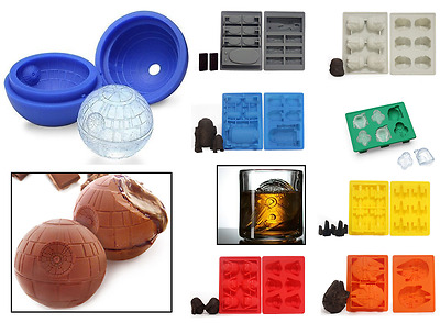 Novelty Star Wars Silicone Ice Cube Tray Chocolate Death Star Darth Vader Mould