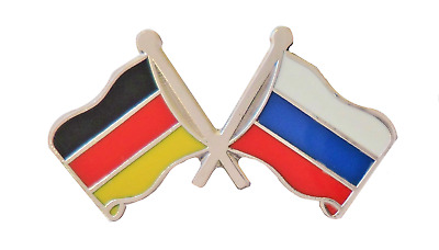 Russian Federation Russia & Germany Flag Friendship Courtesy Pin Badge - G14