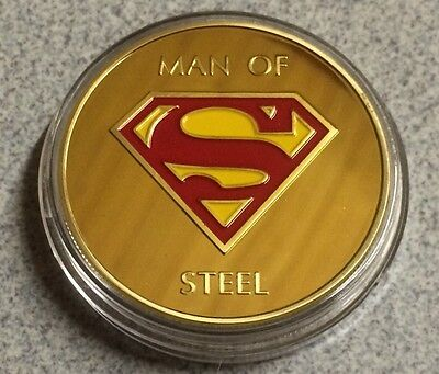 Superman Coin Finished In GOLD 1oz Weight .999 Collectors Medal Token Super