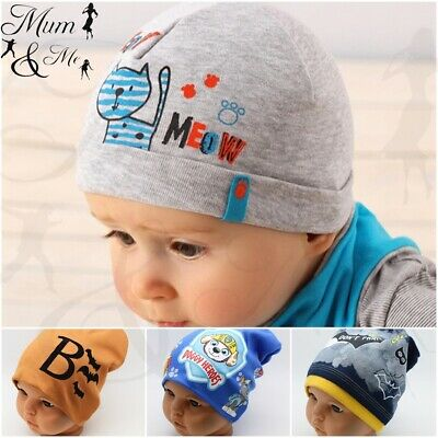 New Baby Boys Hat Infant Spring Summer Cotton Beanie Cap Newborn