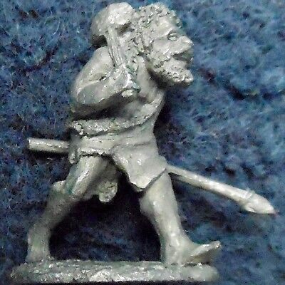 1982 FF46-2 Fiend Factory Caveman with Stone Axe & Spear Citadel Neanderthal D&D