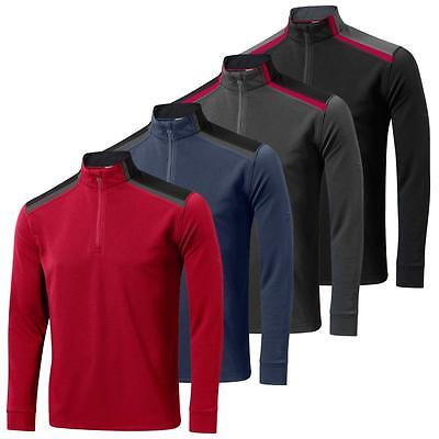 69% OFF Mizuno 2015 Shiki 1/4 Zip Sweater Top Mens Pullover Golf Cover-Up