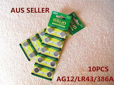 10x AG12/LR43/386A Button Cell Coin JAPAN STD Alkaline Battery 1.55V Watch Toys