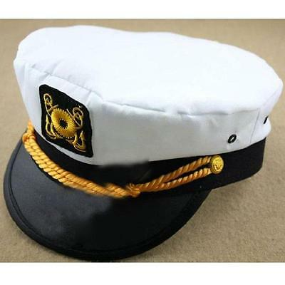 d9879bbd411 Hot Adult Yacht Boat Ship Sailor Captain Costume Hat Cap Marine Admiral  Cadet JJ