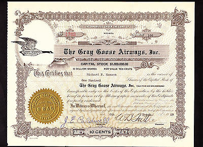 Gray Goose Airways  ---  1929  ---  Not Cancelled