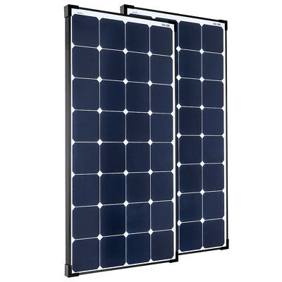 2x Offgridtec® 100W/12V Hochleistungs-Solarmodul (Back-Contact, Black-Frame)