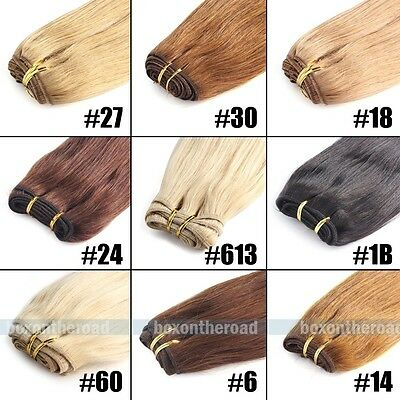 "Brazilian Remy Virgin Human Hair Straight Weft Extensions 18"" 20"" 22"" 24"" 100g"
