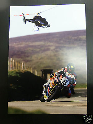 High Quality A3 poster print - Bruce Anstey - Isle of Man TT Races  [A3-09]