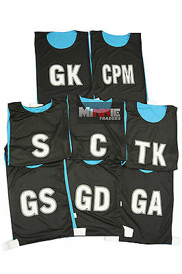 New Hi-5 Netball Training/Practice Breathable Fabric Bibs (Set Of 8)