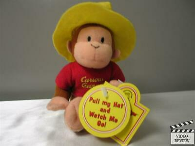 Curious George with Yellow Hat Wiggler; Applause NEW