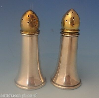 Randahl Sterling Silver Salt & Pepper Shakers 2pc w/Gold Washed Tops (#0231)