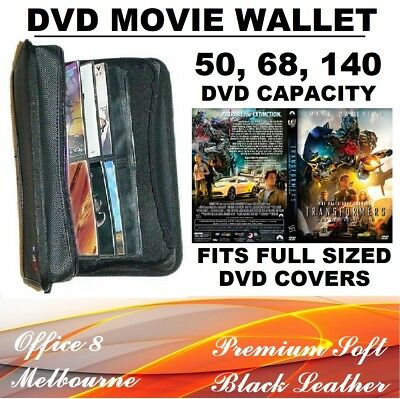 BRAND NEW Premium 68 or 140 DVD Black Wallet Folder DVD Binder Plastic Sleeves