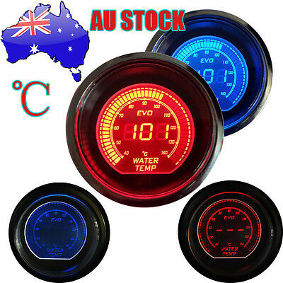 "Car  Vehicle BLACK 2"" 52mm WATER TEMP Meter TEMPERATURE GAUGE CELSIUS AU 2015"