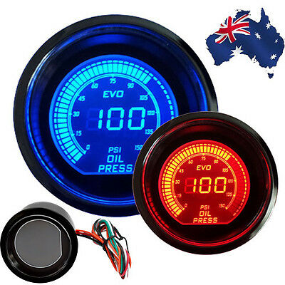 "2"" Oil Pressure Gauge Digital Meter Universal For Car  Vehicle Auto Smoke LED AU"