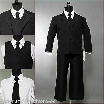 Well tailored toddler baby boy Black wedding formal recital party suit size 2T