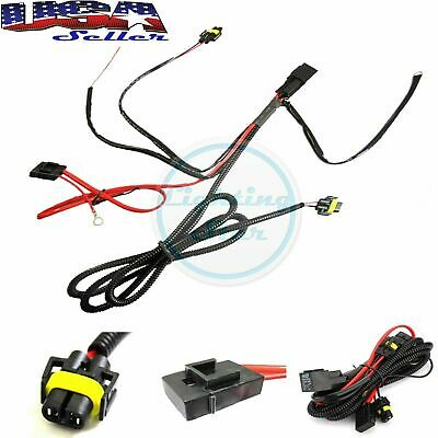 880 H8 H11 Relay Wiring Harness Kit For Fog Light, HID Conversion, H Relay Wiring Harness on