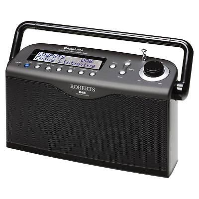 Roberts Classic Lite Ultra Stylish Portable DAB/FM RDS Stereo Radio in Black