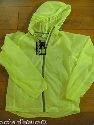 Hi Visibility High Vis Viz Lightweight Ladies Cycling Running Over Jacket - Fluo
