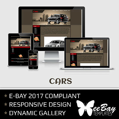 Professional eBay 2017 Auction Listing Template 18 CARS Mobile Responsive Design