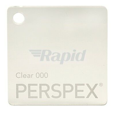 Perspex Cast Acrylic Clear Sheet 1000mm x 500mm, 3mm Thickness