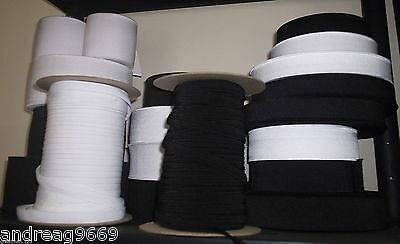 Good Quality Flat Elastic Black Or White Various Widths And Lengths