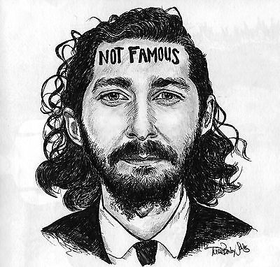 Shia LaBeouf drawing prints