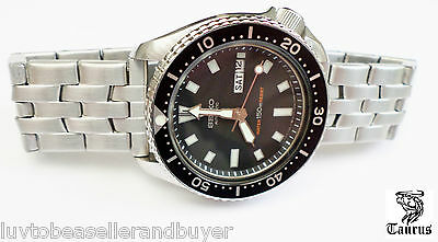 TAURUS HEAVY DUTY SS OYSTER WATCH BAND 18mm 20mm 22mm FOR SEIKO &CITIZEN DIVER'S