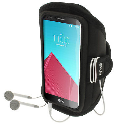 Black Running Jogging Sports Armband for LG G4 H815 2015 Fitness Gym Case Cover