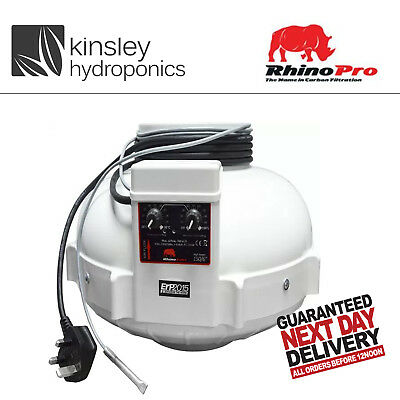 Rhino Fans 4 5 6 8 10 12 Inch Inline Extractor Filter Carbon Hydroponics Twin