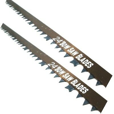 "Toolzone Raker Teeth Tooth Bow Saw Blade 24"" 600mm Wet Green Wood pack of 2"
