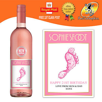 Personalised Rose Or Red Wine Bottle Label Birthday All Occasions Gift