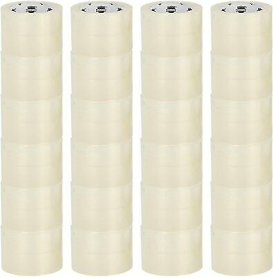 "48 Rolls 3"" x 165' Clear Packing Tape Packaging Tapes Shipping Mailing Supplies"
