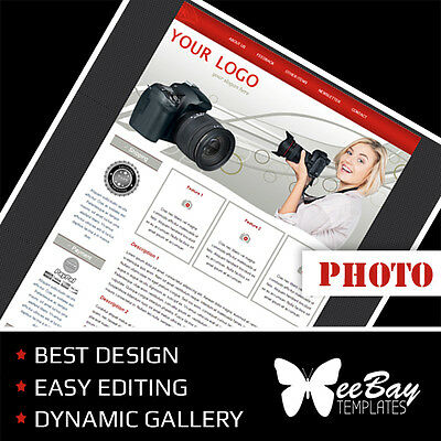 Professional eBay Auction Listing Template 8 PHOTO ACC Custom HTML New Design