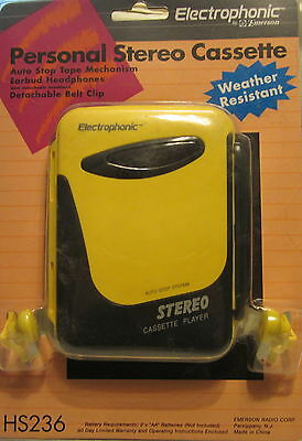 Personal Stereo Cassette Player Electophonic HS236