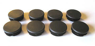 "8 - 1 1/2"" Round Tubing Plastic Plug End Cap 1.5 Post Leg Glide Pipe Hole Cover"