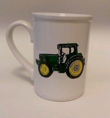John deere tractor pic coffee/tea mug/cup 16 oz green/yellow/white small chip