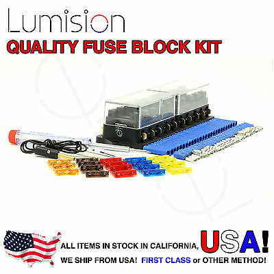10 PORT WAY Fuse Block Lumision Kit Ready to Install ... Installing A Fuse Box In Boat on boat fuel cap, boat fuel gauge, boat dash panel, boat battery box, boat radio fuses, boat fire extinguisher box, boat engine, boat speed sensor, boat fuel line, boat bench seat with storage, boat throttle cable, boat wiring diagrams showing fuses, boat electrical wiring, boat kill switch, boat running light wiring diagram, boat electrical box, boat pump box, boat radio wiring, boat speaker, boat seat box,