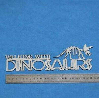 Chipboard A2Z Scraplets Walking with Dinosaurs Border