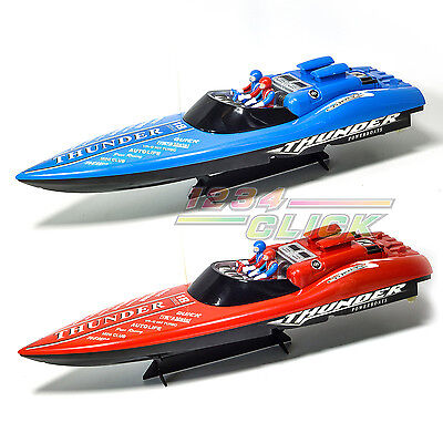 New RC Boat Remote Control Thunder Twin Propeller Racing Speed Boat