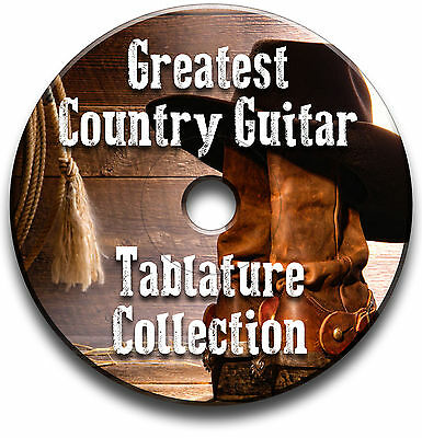 Greatest Country Guitar Tab Collection Tablature Song Book Software Cd