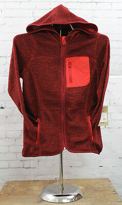 New Burton Girls Youth Marble Fleece FZ Jacket Medium Hot Heather
