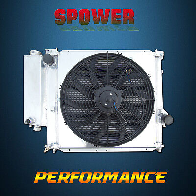 Aluminum Radiator + Fan Shroud For BMW E36 316i 318i 320i 323i 325i Z3 4Cyl 6Cyl