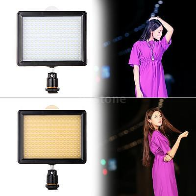 160 LED Video Light Lamp Panel 1280LM Dimmable For Canon Nikon Camera DSLR US
