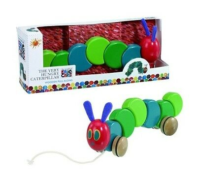 Rainbow Designs The Very Hungry Caterpillar Pull Along Wood Toy