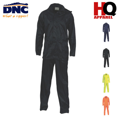 Safety Rain Set Cold & Wet Wears Brand New Hivis Polyester/Pvc Yellow 3708 Dnc